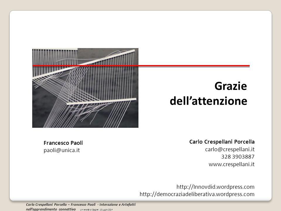 Grazie dell'attenzione Carlo Crespellani Porcella carlo@crespellani.it 328 3903887 www.crespellani.it http://Innovdid.wordpress.com http://democraziad
