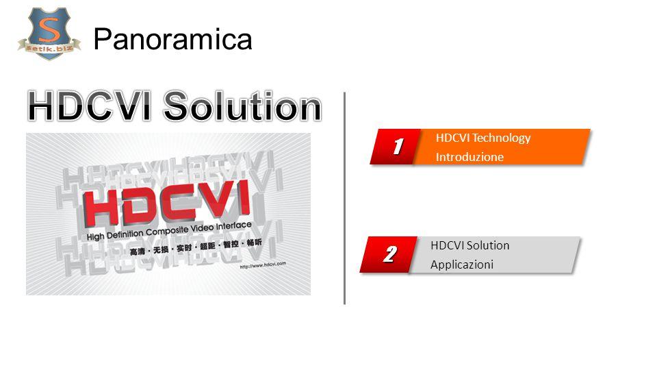 Panoramica HDCVI Solution Applicazioni 22 HDCVI Technology Introduzione HDCVI Technology Introduzione11