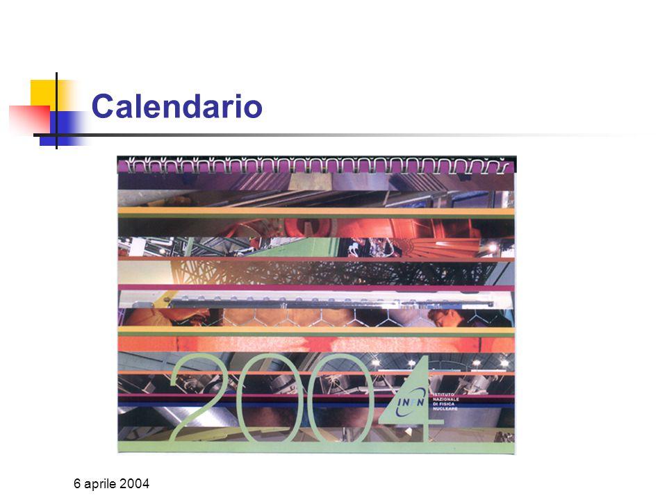 6 aprile 2004 Agenda