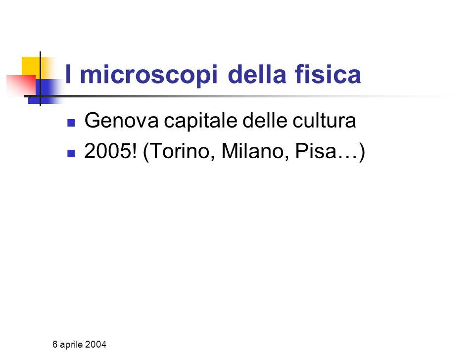 6 aprile 2004 www.infn.it/comunicazione