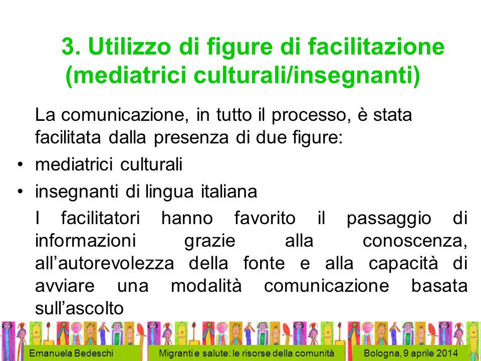 Bologna, 9 aprile 2014Emanuela BedeschiMigranti e salute: le risorse della comunità 3.