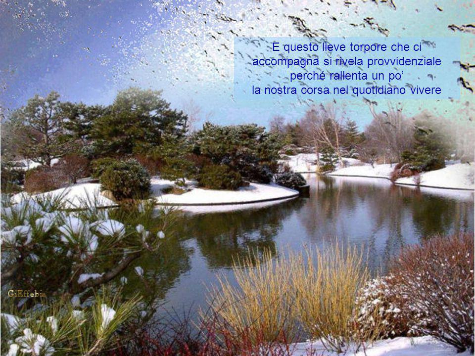 """Si dice: """"Aprile, dolce dormire"""" ed è vero: mentre l'ultima neve dell'inverno si oppone ancora al disgelo, è dolce la mattina indugiare nel tepore"""