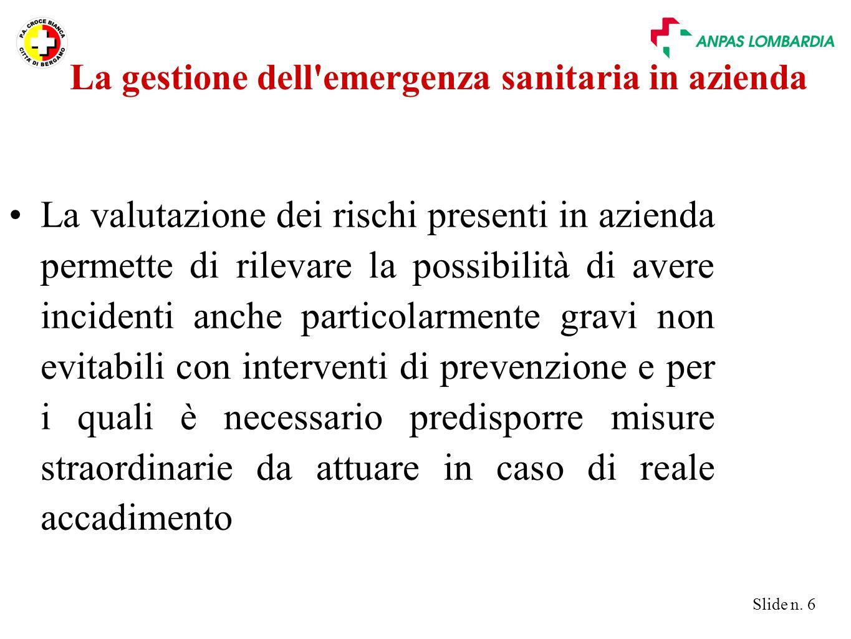 Slide n.27 Ambiente Movimento mezzi fuoco gas tossici pericolo di crollo...