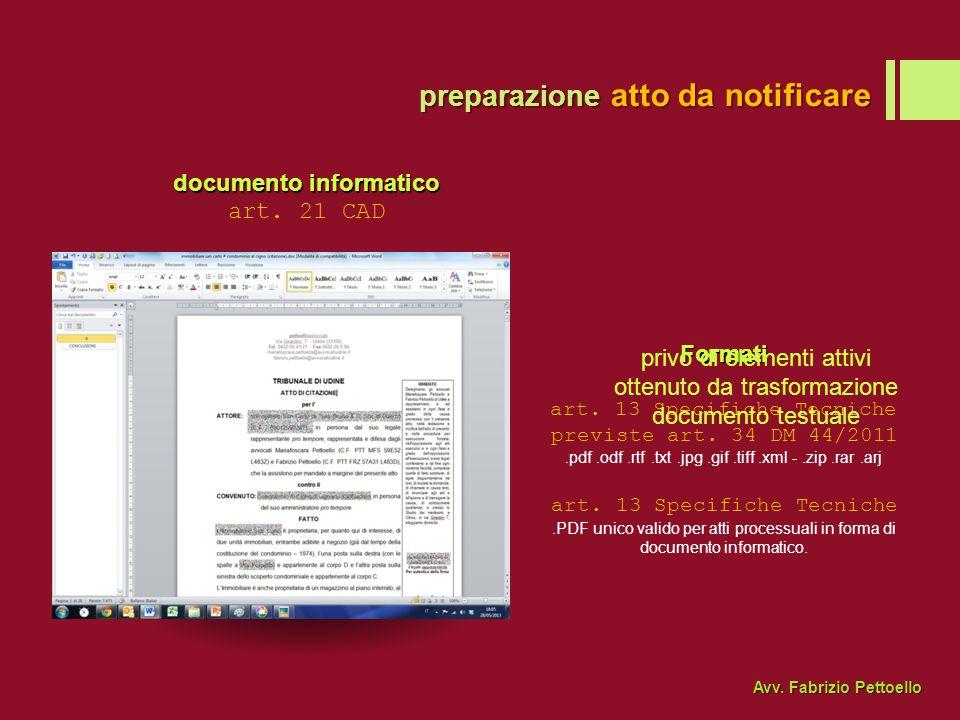documento informatico art.21 CAD Formati art. 13 Specifiche Tecniche previste art.