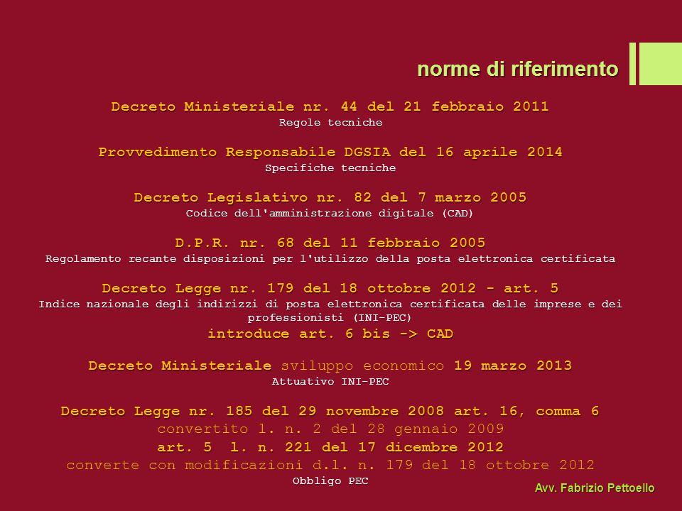 prova di avvenuta notifica: le ricevute Avv. Fabrizio Pettoello