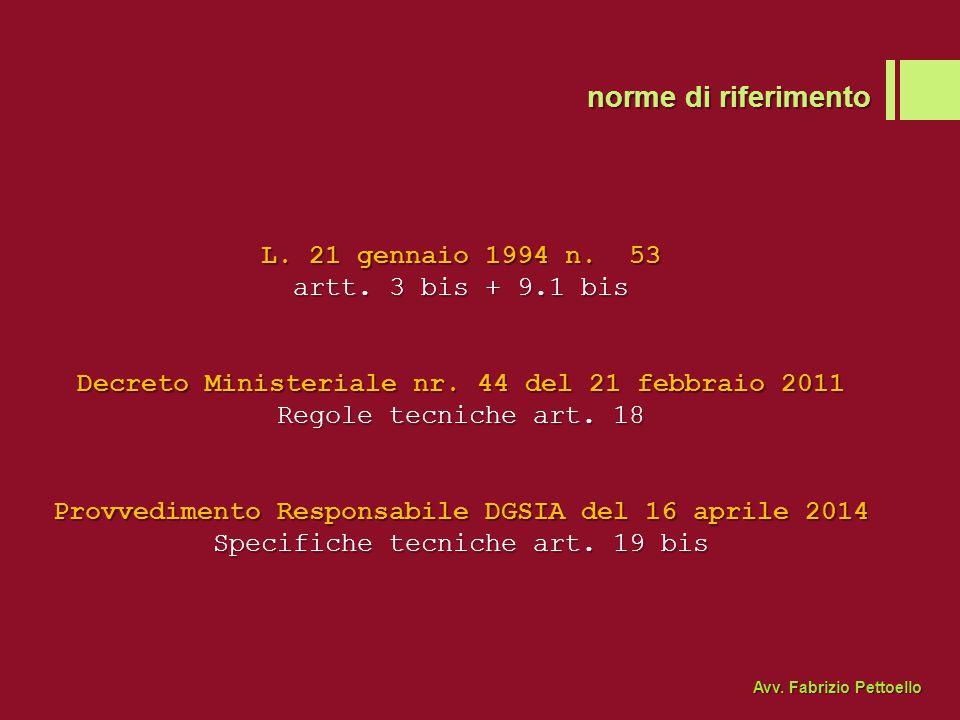 ricevuta accettazione Avv. Fabrizio Pettoello