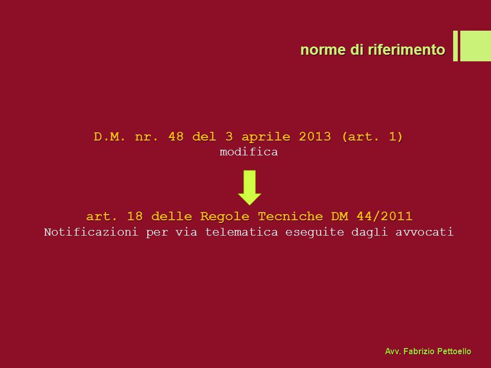 D.M.nr. 48 del 3 aprile 2013 (art. 1) modifica art.