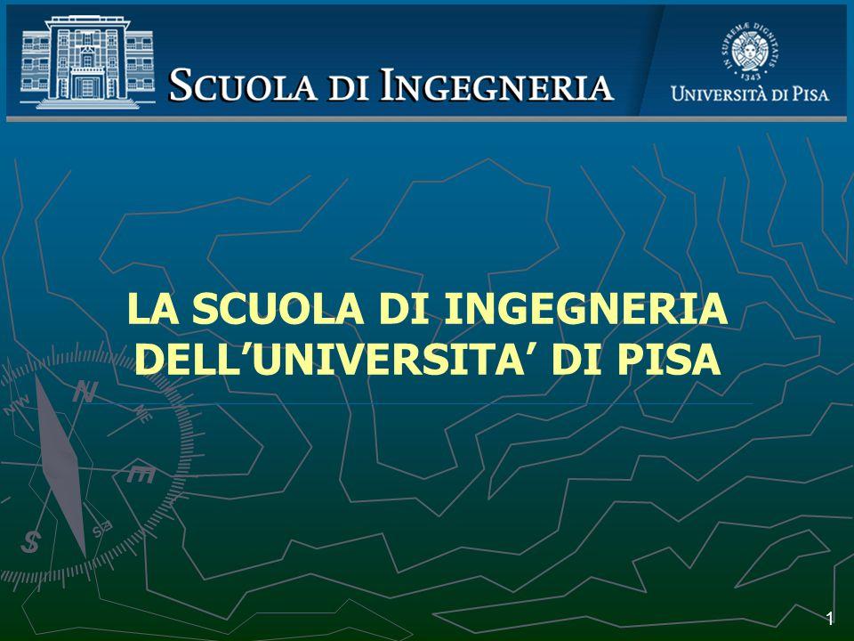 La Scuola di Ingegneria nel suo contesto 2 E istituita a Pisa presso quella Università, a cominciare dall anno scolastico 1913-1914, una Scuola di Applicazione per gl Ingegneri .