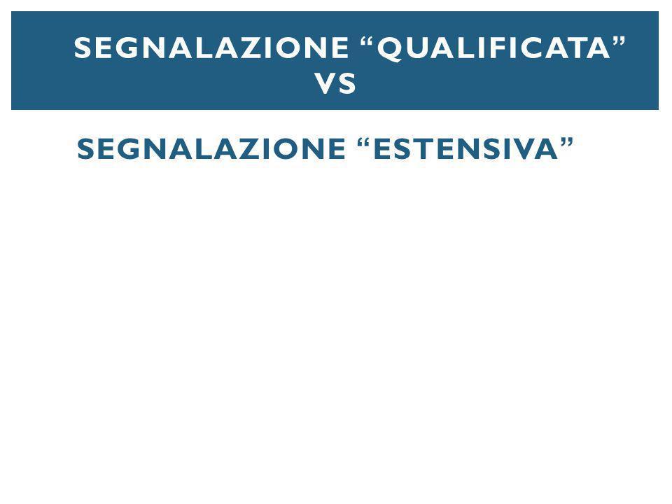 """SEGNALAZIONE """"QUALIFICATA"""" VS SEGNALAZIONE """"ESTENSIVA"""""""
