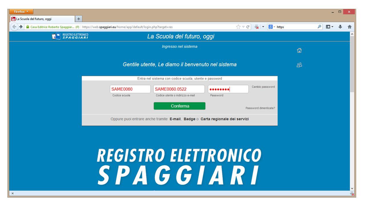 Gestione Registri Dalla videata precedente possibile accedere a tutti i propri Registri oppure visualizzare i Registri di tutte le classi.