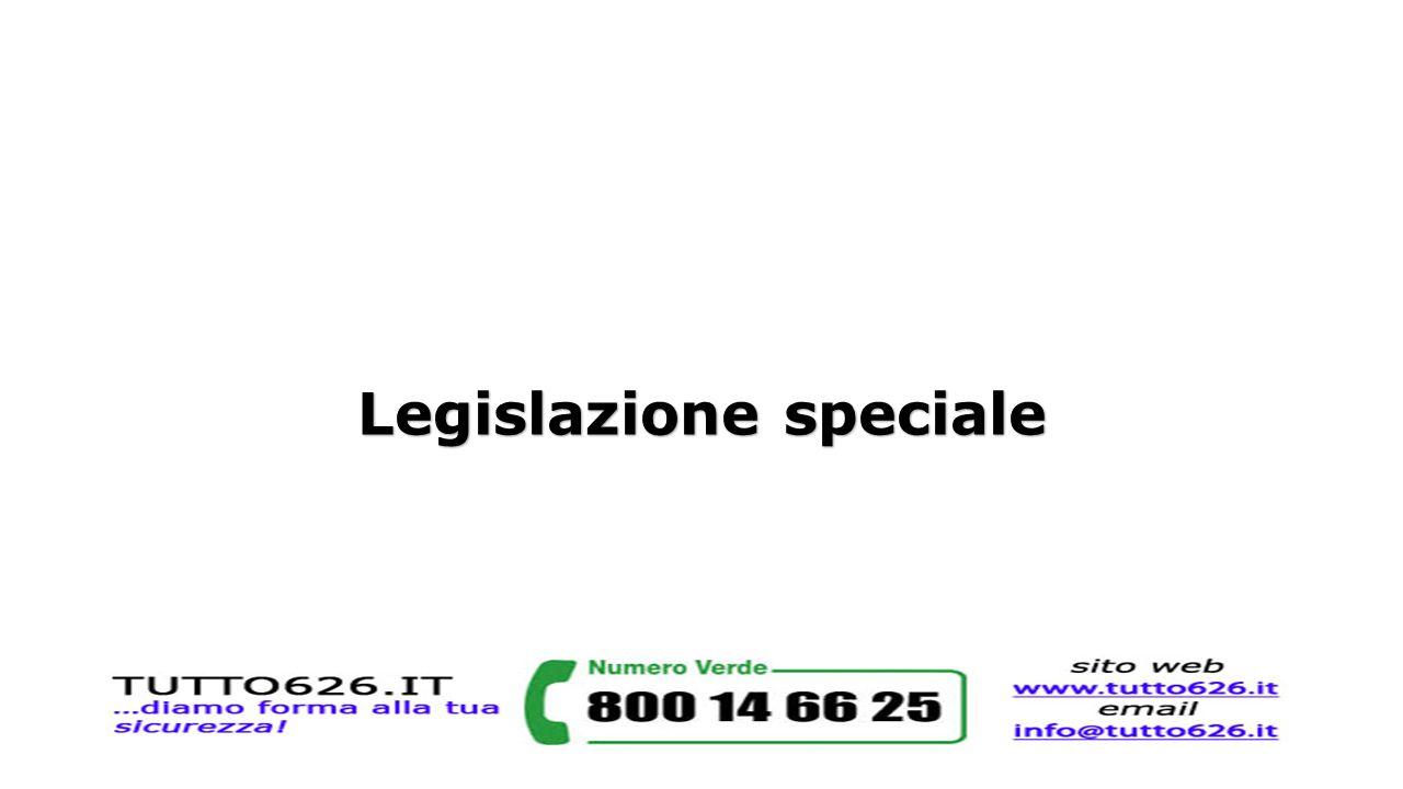 Legislazione speciale