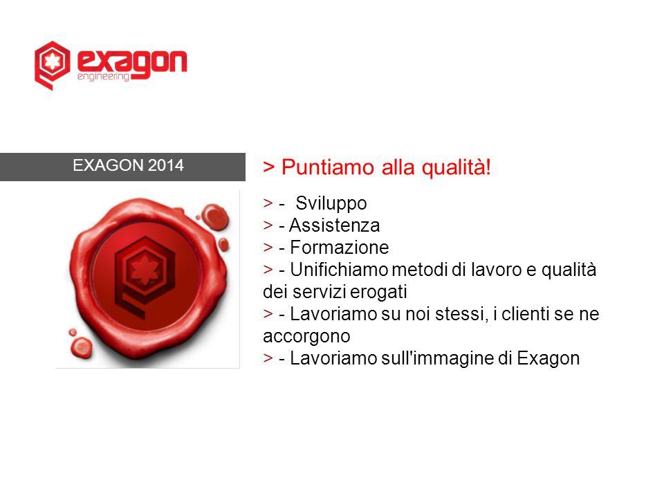 EXAGON 2014 > Puntiamo alla qualità.