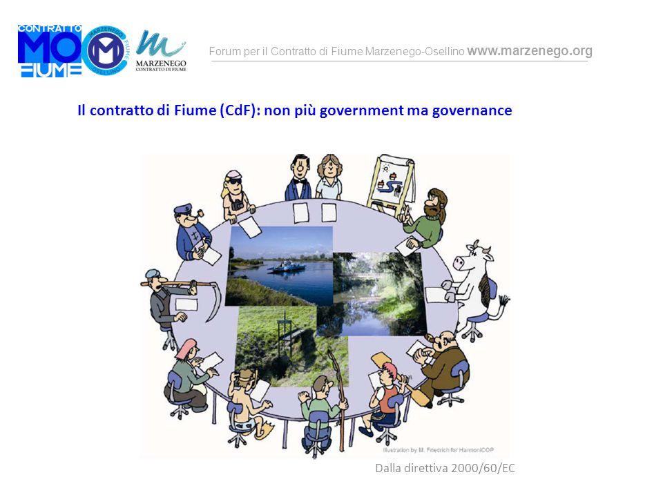 Forum per il Contratto di Fiume Marzenego-Osellino www.marzenego.org Il contratto di Fiume (CdF): non più government ma governance Dalla direttiva 200