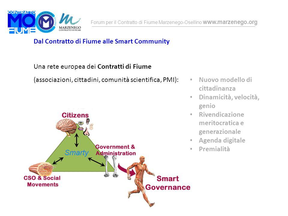 Forum per il Contratto di Fiume Marzenego-Osellino www.marzenego.org Dal Contratto di Fiume alle Smart Community Una rete europea dei Contratti di Fiu