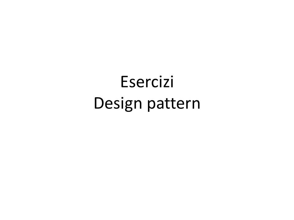 Proxy Il proxy pattern espone un oggetto in rappresentanza di un altro.