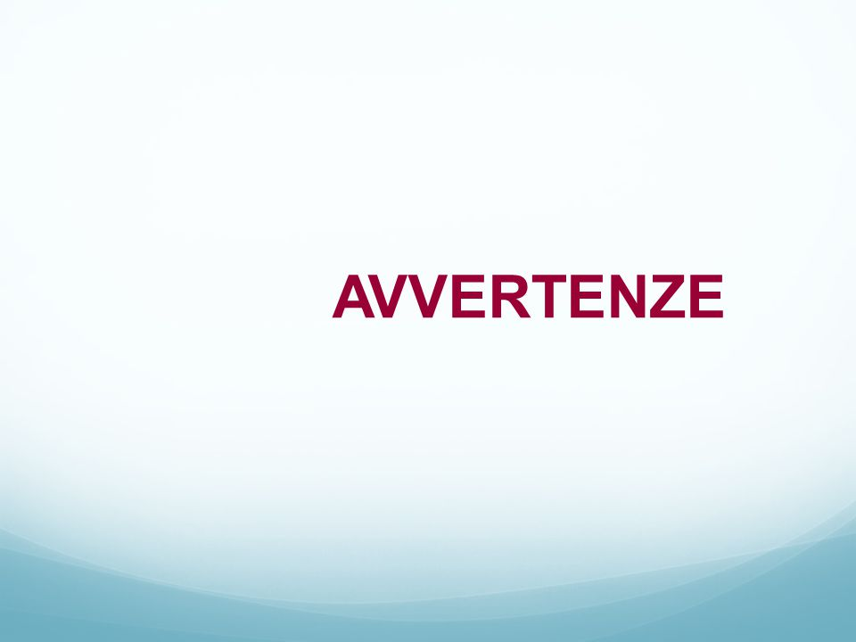 AVVERTENZE