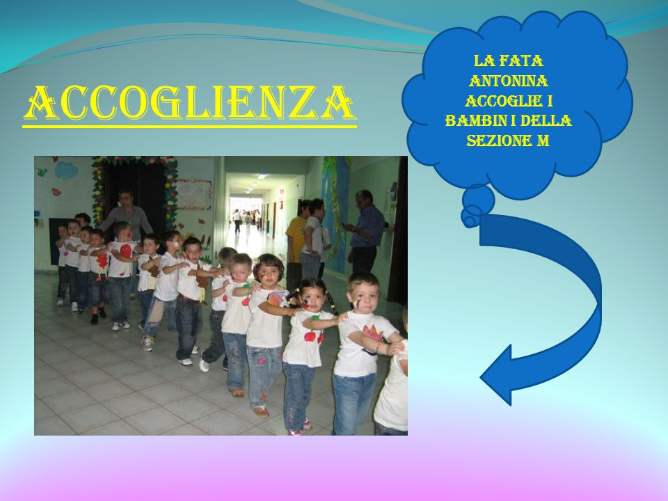 ACCOGLIENZA LA fata Antonina accoglie i bambin i della sezione M