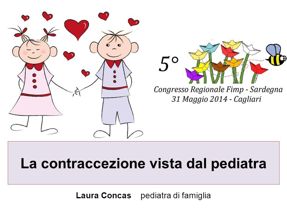 La contraccezione vista dal pediatra Laura Concas pediatra di famiglia
