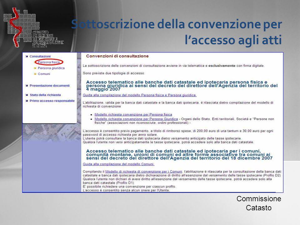 Sottoscrizione della convenzione per l'accesso agli atti Commissione Catasto