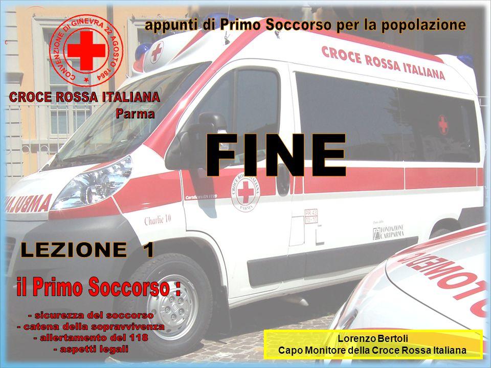 Lorenzo Bertoli Capo Monitore della Croce Rossa Italiana