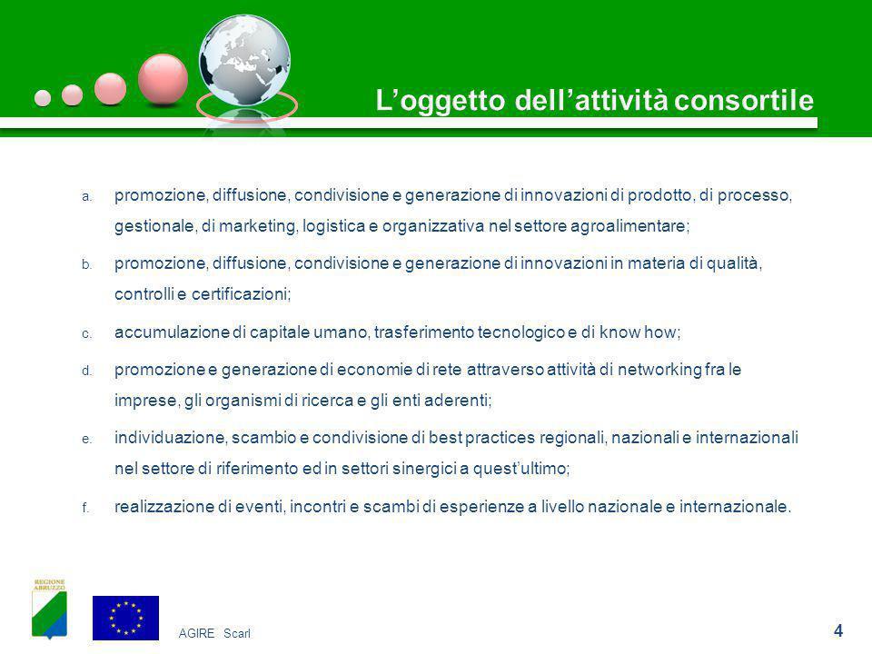 a. promozione, diffusione, condivisione e generazione di innovazioni di prodotto, di processo, gestionale, di marketing, logistica e organizzativa nel