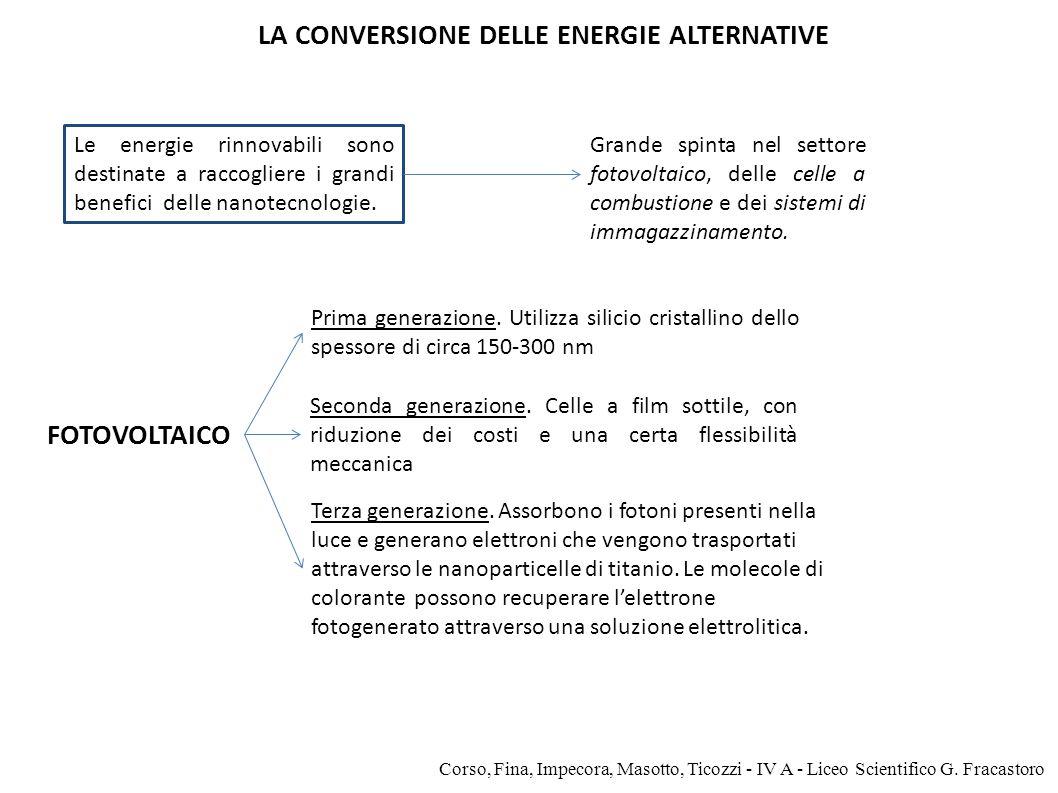 FOTOVOLTAICO LA CONVERSIONE DELLE ENERGIE ALTERNATIVE Corso, Fina, Impecora, Masotto, Ticozzi - IV A - Liceo Scientifico G. Fracastoro Le energie rinn