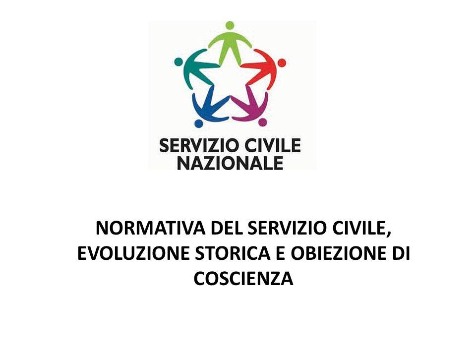 Dal Servizio civile obbligatorio al Servizio Civile Nazionale volontario.