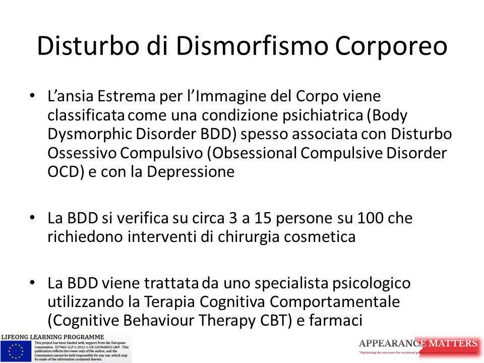Disturbo di Dismorfismo Corporeo L'ansia Estrema per l'Immagine del Corpo viene classificata come una condizione psichiatrica (Body Dysmorphic Disorde