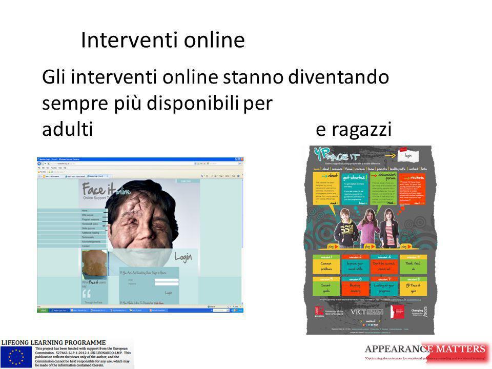 Gli interventi online stanno diventando sempre più disponibili per adulti e ragazzi Interventi online