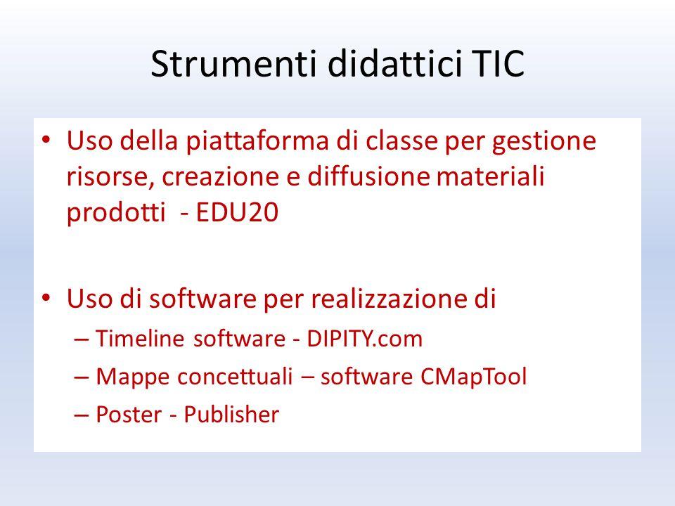 Uso della piattaforma di classe per gestione risorse, creazione e diffusione materiali prodotti - EDU20 Uso di software per realizzazione di – Timelin