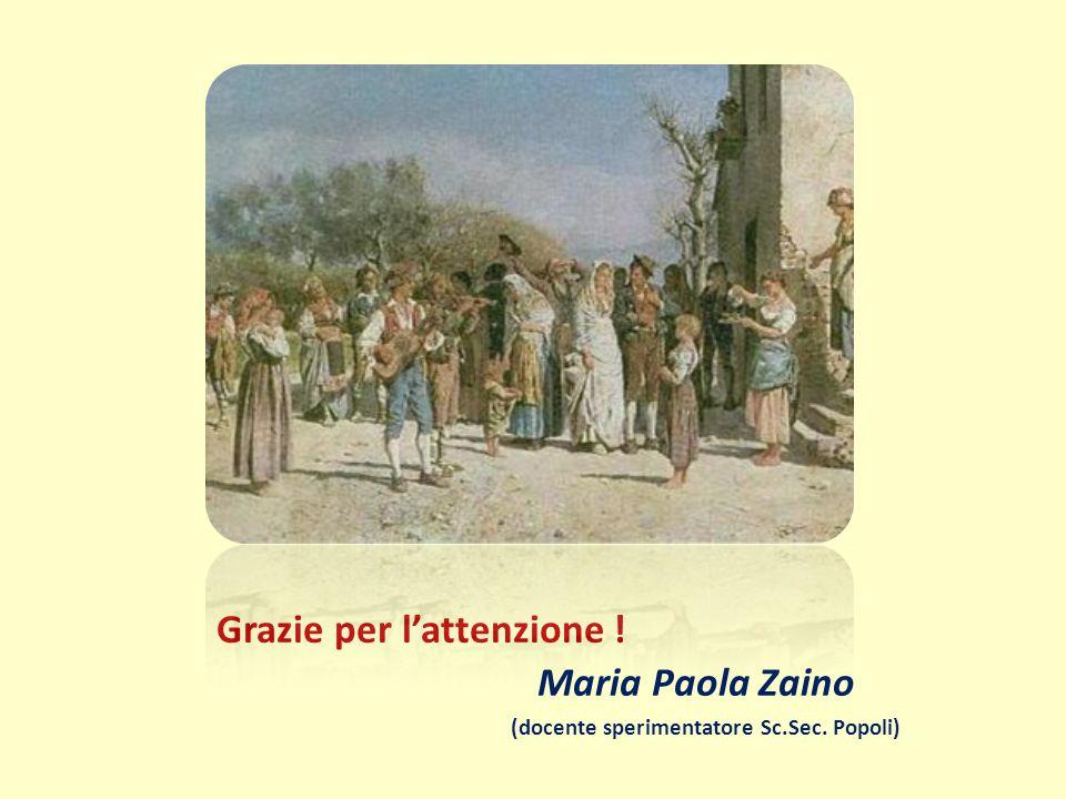 Grazie per l'attenzione ! Maria Paola Zaino (docente sperimentatore Sc.Sec. Popoli)