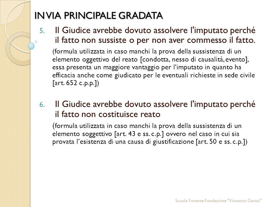 IN VIA PRINCIPALE GRADATA 5.