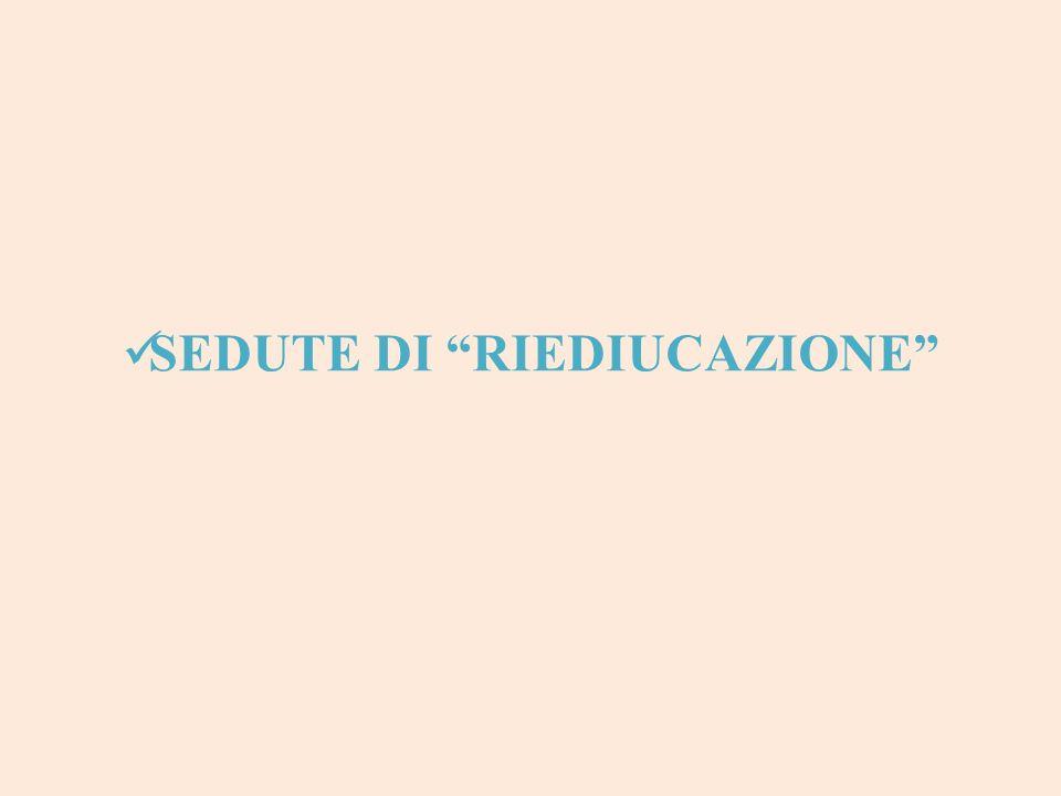 """SEDUTE DI """"RIEDIUCAZIONE"""""""