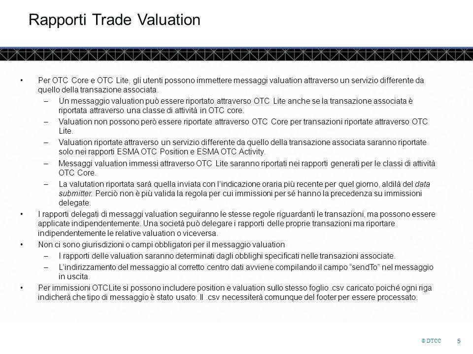 © DTCC 16 Collateral Linking Se il codice collateral portfolio non esiste sul messaggio trade, GTR cercherà un messaggio collateral link.