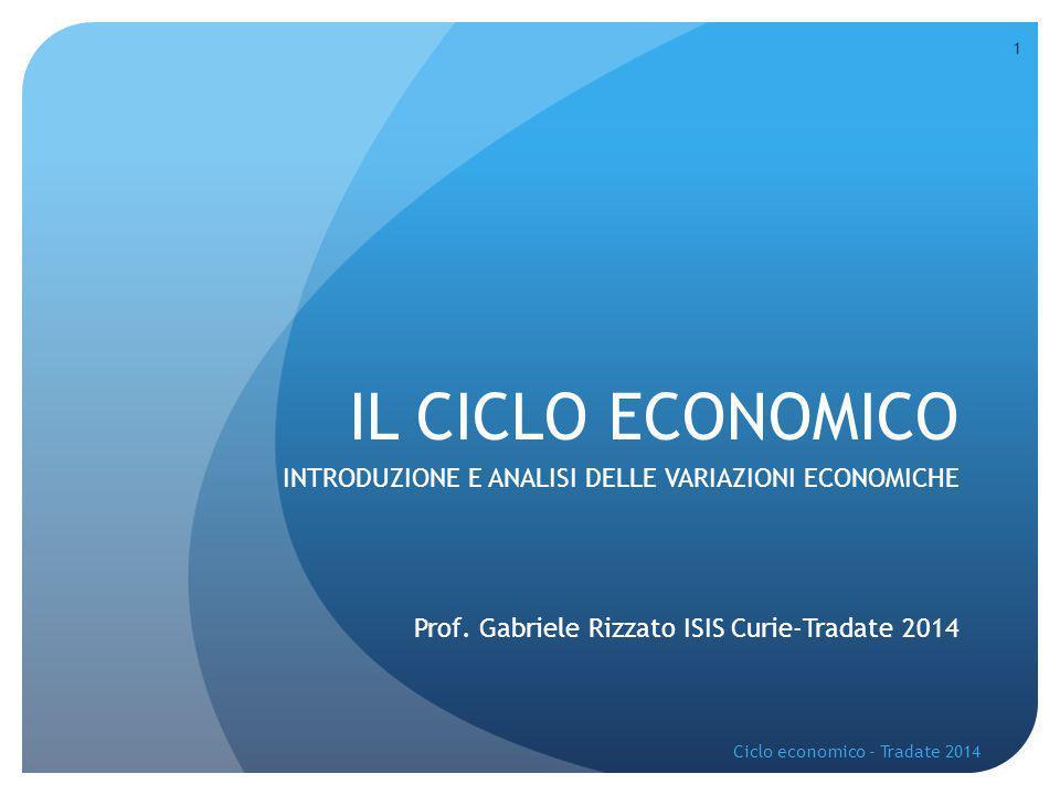 1 IL CICLO ECONOMICO INTRODUZIONE E ANALISI DELLE VARIAZIONI ECONOMICHE Prof.