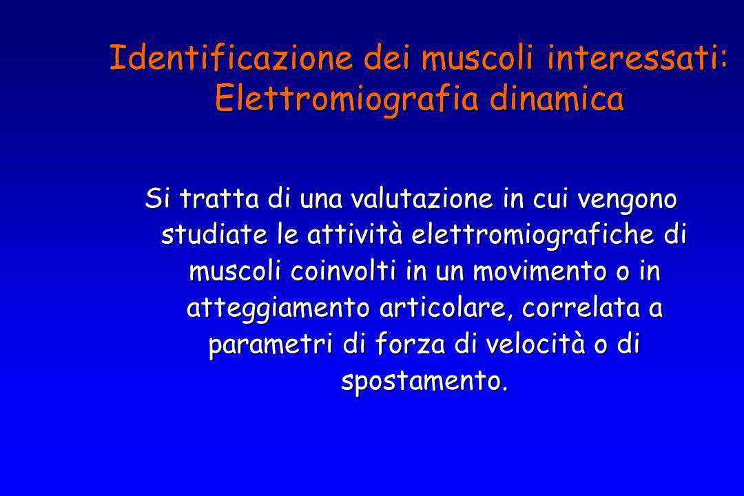 Si tratta di una valutazione in cui vengono studiate le attività elettromiografiche di muscoli coinvolti in un movimento o in atteggiamento articolare