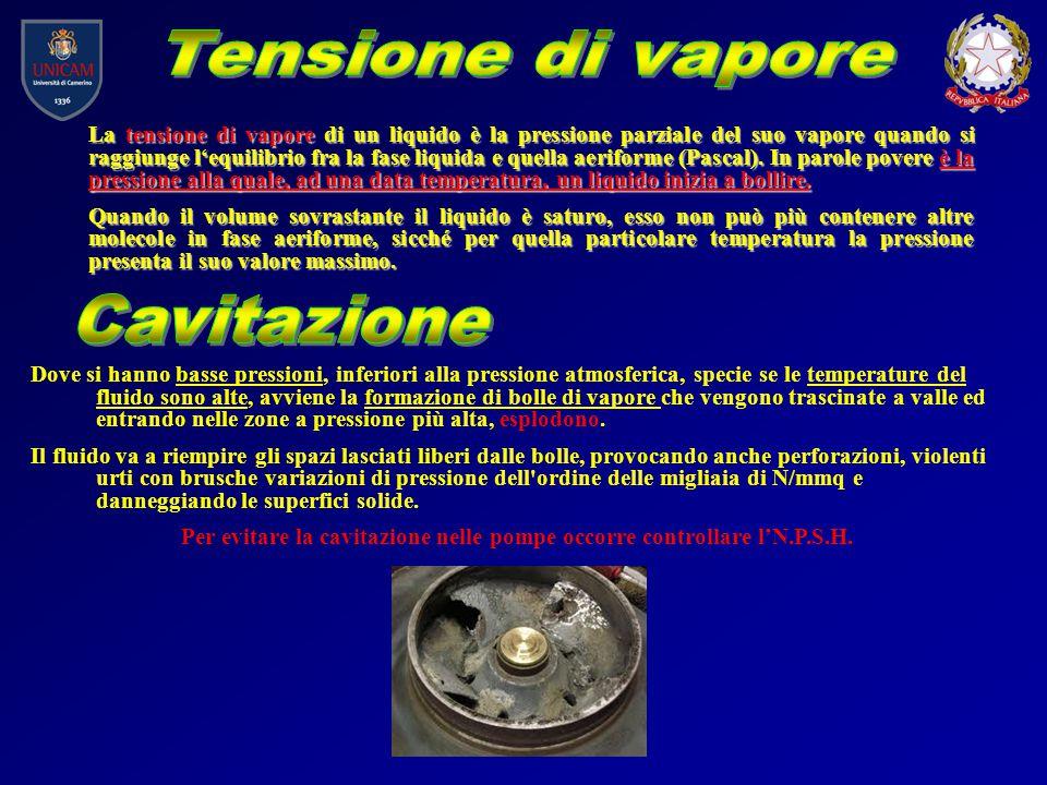 La tensione di vapore di un liquido è la pressione parziale del suo vapore quando si raggiunge l'equilibrio fra la fase liquida e quella aeriforme (Pa
