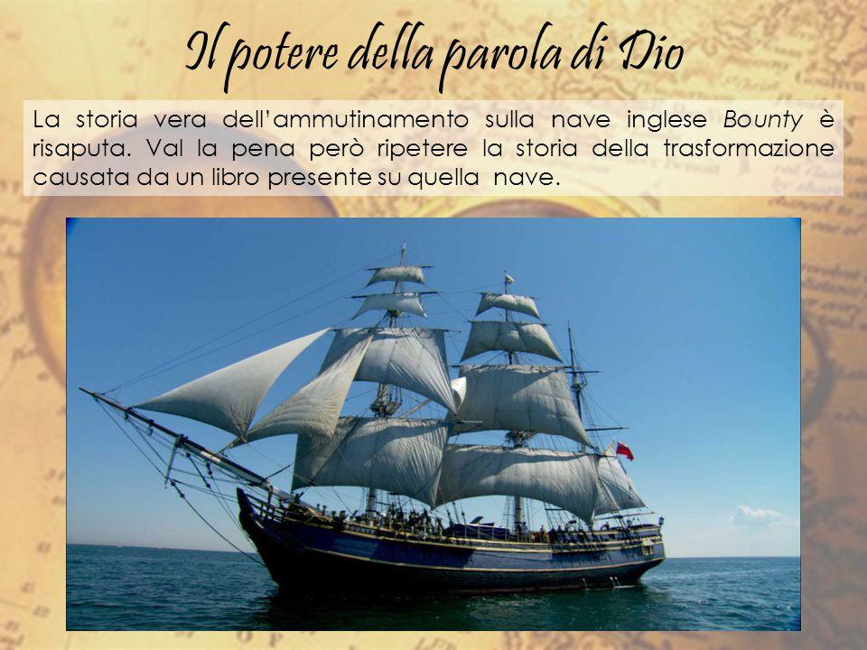 La storia vera dell'ammutinamento sulla nave inglese Bounty è risaputa. Val la pena però ripetere la storia della trasformazione causata da un libro p