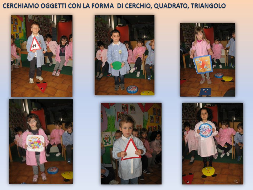 CERCHIAMO OGGETTI CON LA FORMA DI CERCHIO, QUADRATO, TRIANGOLO 41