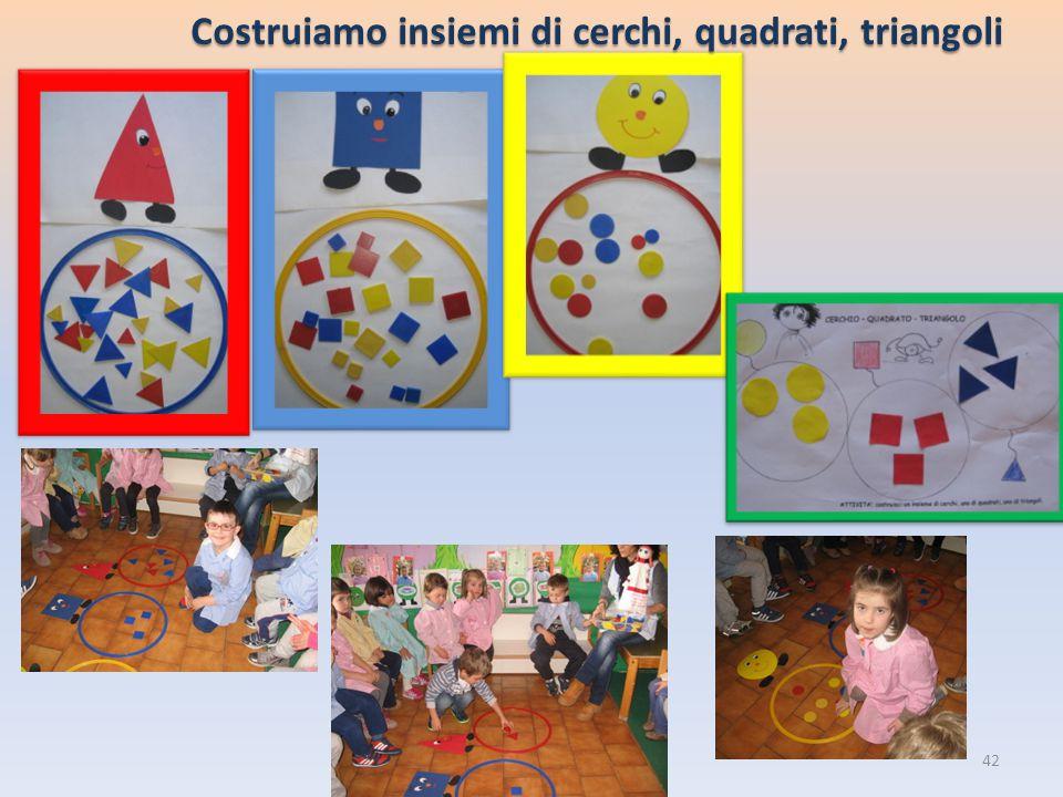 Costruiamo insiemi di cerchi, quadrati, triangoli 42