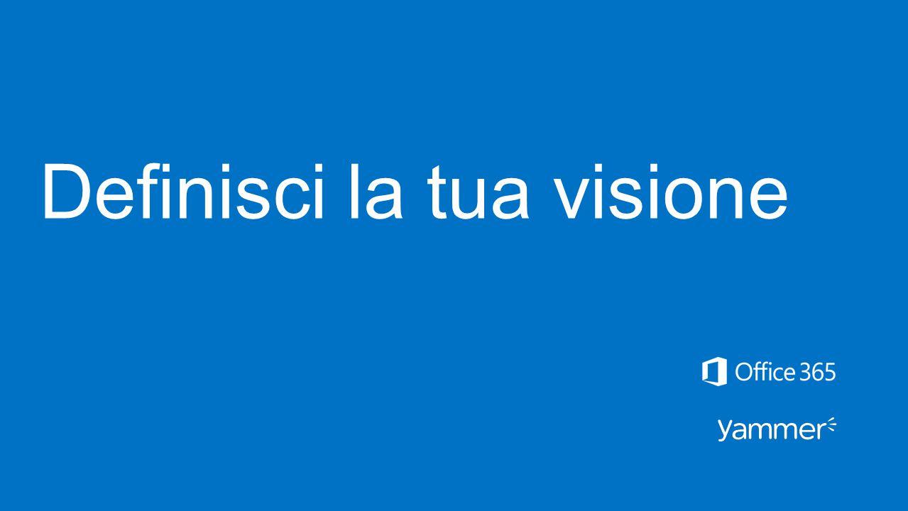 Definisci la tua visione