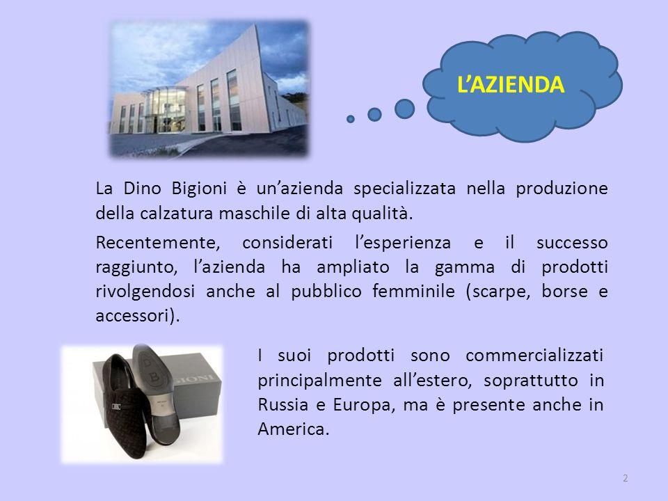 La Dino Bigioni è un'azienda specializzata nella produzione della calzatura maschile di alta qualità. Recentemente, considerati l'esperienza e il succ