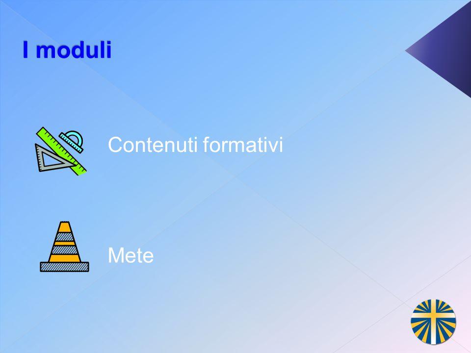 I moduli Contenuti formativi Mete