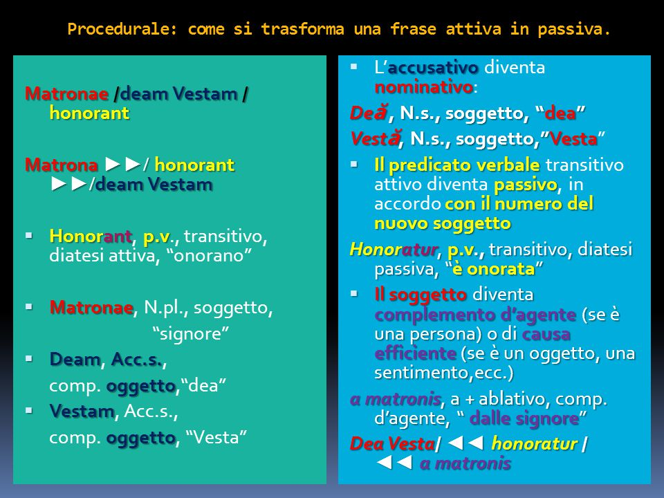 complemento di causa efficiente Una frase con il complemento di causa efficiente.