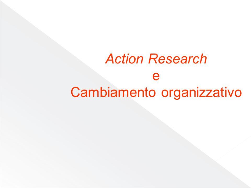 Il processo metodologico dell'ar Plan Reflect Observe Act Processo circolare a spirale segnato da quattro fasi: Pianificazione, azione, osservazione, riflessione; in questo circuito centralità è data alla valutazione non solo del processo nel suo complesso, ma di ogni singola fase Cummings e Huse identificano le fasi del processo di cambiamento informate dal modello dell'action research Identificazione del problema Consulenza Raccolta dati Feedback Diagnosi congiunta Programmazione congiunta Azione Valutazione