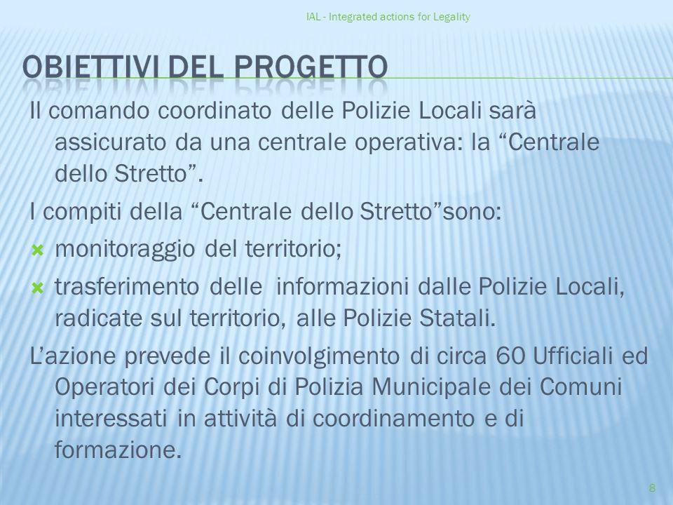 IAL - Integrated actions for Legality 8 Il comando coordinato delle Polizie Locali sarà assicurato da una centrale operativa: la Centrale dello Stretto .