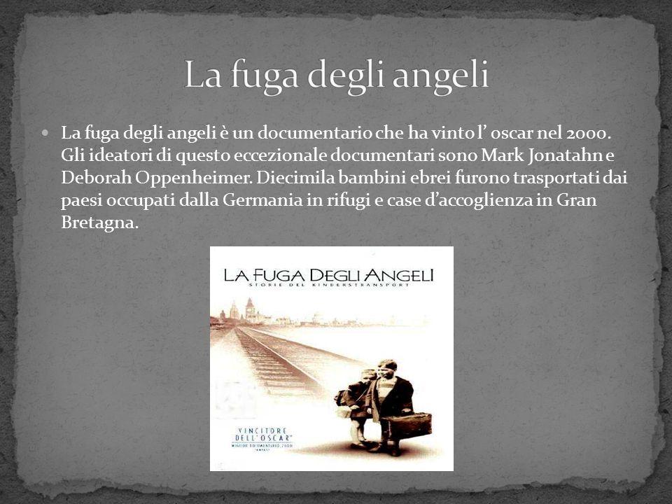 La fuga degli angeli è un documentario che ha vinto l' oscar nel 2000. Gli ideatori di questo eccezionale documentari sono Mark Jonatahn e Deborah Opp
