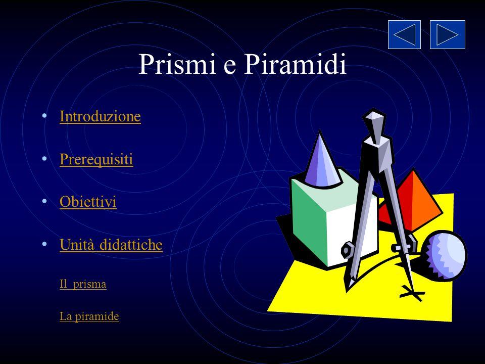 Prismi e Piramidi Esempio di programmazione modulare c.c.