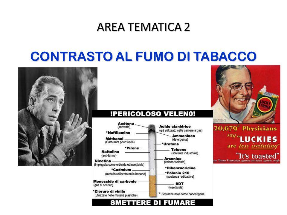 AREA TEMATICA 2 CONTRASTO AL FUMO DI TABACCO