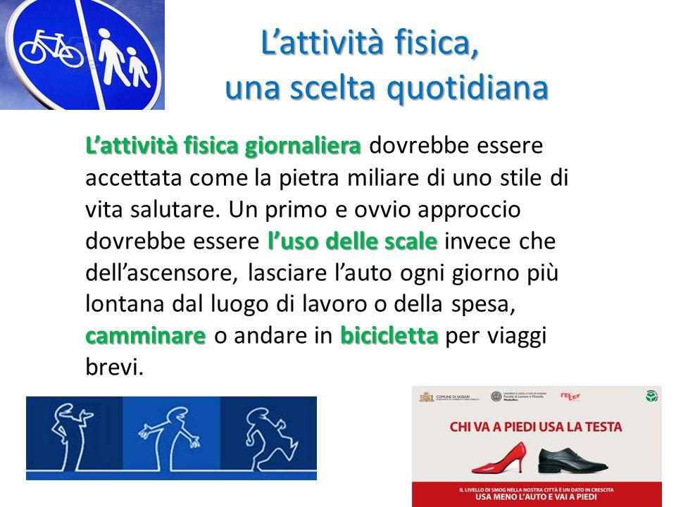 L'attività fisica giornaliera l'uso delle scale camminarebicicletta L'attività fisica giornaliera dovrebbe essere accettata come la pietra miliare di